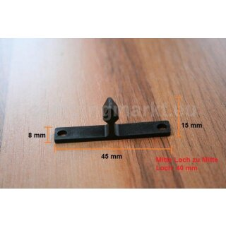 Counter part for double spring roller catch