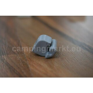 Stopper/end piece for window mounting rails, grey