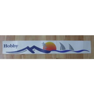 Hobby sun logo decal for the right side metal sheet
