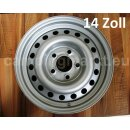 Steel rim Hobby silver, 5-hole, 5 1/2J x14, ET (nominal...