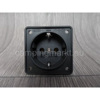 SCHUKO socket without frame, Hobby + Fendt, 55 x 55 mm anthracite