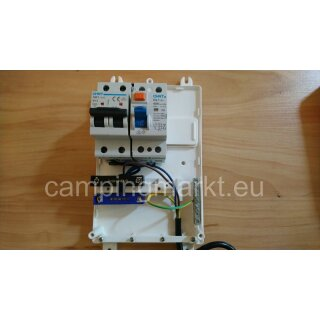 Voltage transformer 12V/140W, 70270.9706 + fuse box with ground fault circuit interrupter