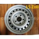 Steel rim Hobby silver, 5-hole, 5 1/2J x 15, ET (nominal...