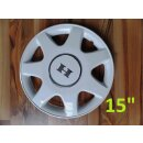 Wheel cover 15 inch, white, Hobby