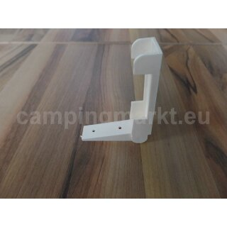 Folding hinge for the kitchen worktop, 2-part, beige