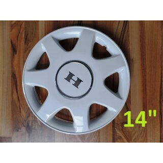 Wheel cover 14 inch, white, Hobby